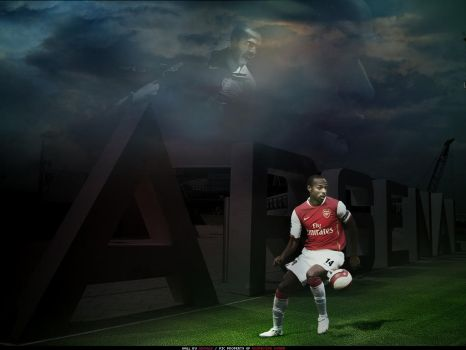Thierry Henry on the Emirates by adomas