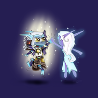 High-Fiving Elune by Charolique