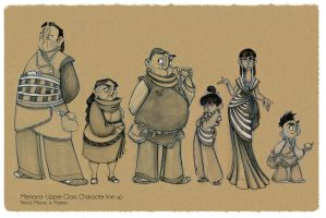 Memoria- Upper Class Character Line Up by christy-mac