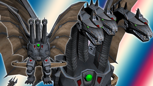 Hyper Mecha-King Ghidorah for MMD by kaxblastard