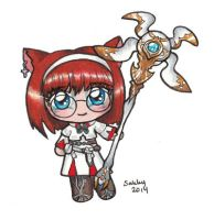FF14 White Mage by sakkysa