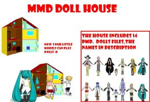 MMD doll house by bawicho