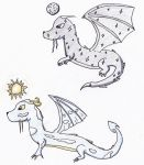 Sun and Moon Dragons by HMice