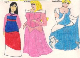 Thick Disney Princesses pencil by ColdHeartedCupid