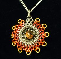 Sunfire Kuchi Pendant by chainmaille