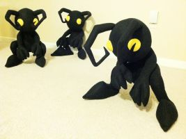 Shadow Heartless Plush Army by hiyoko-chan