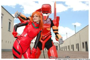 Asuka and Eva02 by xxLaylaxx