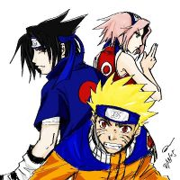 Naruto - Team 7 colored by majochan