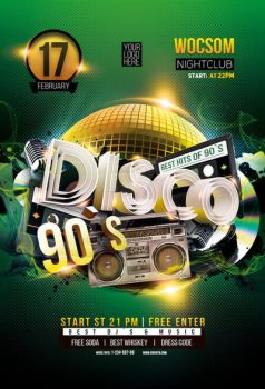 Disco flyer and poster by iorkdesign