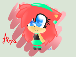 .:Gift:. Arya The Hedgehog - Chibi :3 by xGiulyUndeadx