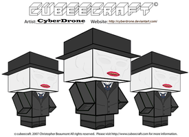 Cubeecraft - The Whisper Men by CyberDrone