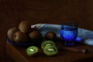 about kiwi and blue by An-gora
