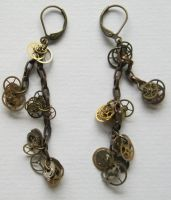 Steampunk Earrings by aussiechicksteph