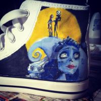 Tim Burton Shoes side 2 by loudsilence21