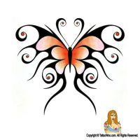Tribal Butterfly Tattoo Design by JonnyHFlash