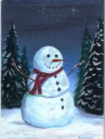 Little snowman by ArT-Walker