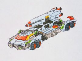 Buster machine: GL-09 Giraffe vehicle mode by kishiaku