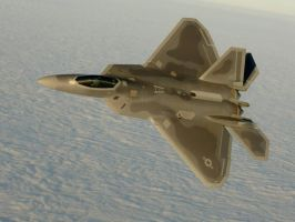 Snow Bank F-22A by plumpener