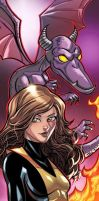 Kitty Pryde Panel Art by RichBernatovech
