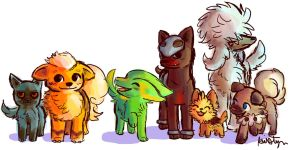Just some Dog Pokemon by Friendlyfoxpal
