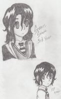 Severus Snape - Year 3 and 1 by EmmiraYuko