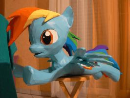 Dashie papercraft 360 degree by Znegil