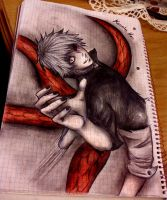 Kaneki Ken (made at shool) by Reyos-Cheney