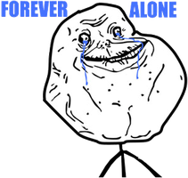 Meme Forever Alone PNG by MFSyRCM
