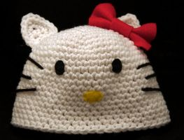 Hello Kitty Beanie by rainbowdreamfactory