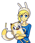 Fionna and Cake by Akimi-Chan15