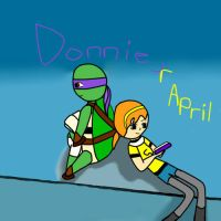 Donnie x April ~ Reading by artgamerforever