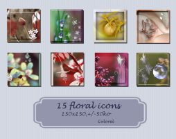 Floral icons by libidules