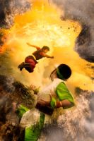 Earth Vs Fire by RacoonFactory