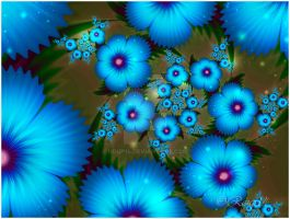 Blue Night Flower by roup14