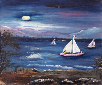 Moonlight Sail by MaineTherapy