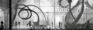Aperture's Prime [Triple Screen - 5760x1080px] by meta-cause