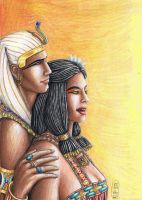 Ramessess II and Nefertari by MyWorld1