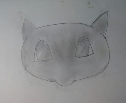 Mew Head Drawing by MarthTheBlackLegend