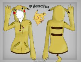 Pikachu Hoodie design by Vala-Creations