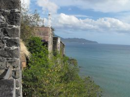 Fortification and wall of Fort Saint Louis by A1Z2E3R