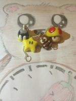 Mario Charms :) by chillibearjewellery