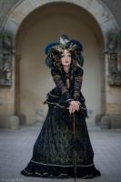 Stock - Black and gold Vampire Queen Faun Demon 46 by S-T-A-R-gazer