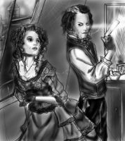 sweeny todd and mrs. lovett by 0van