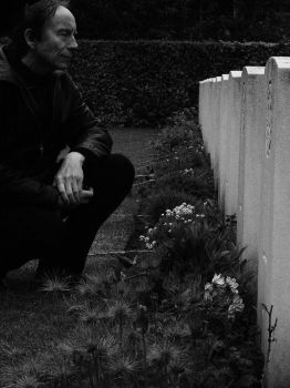 Man at soldier's grave 2 by xRockChick