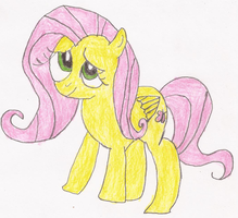 Fluttershy Pony Drawing by SoraRoyals77