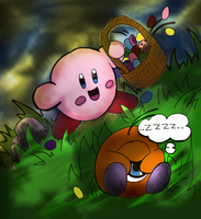 Kirby Egg-hunt Gone Wrong by Kefka750