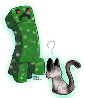 Creepers and cats by akitasilverwolf