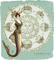 My Vintage Horoscope -Capricorn- by DeerDandy