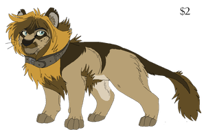 Lion Adoptable 1 GONE by KasaraWolf