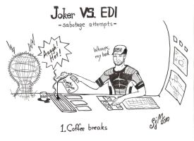 Joker vs EDI 1 by sleepyhamsteri